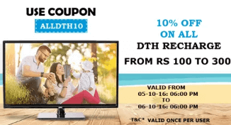 10% off on DTH Recharge