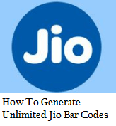 How to generate unlimited Jio bar codes