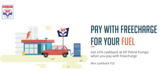 Freecharge Petrol Cashback Offer