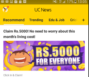 UC News App Loot Offer