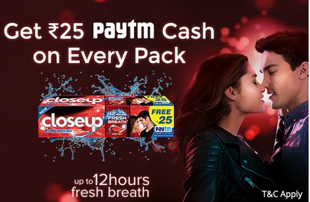 Paytm closeup offer