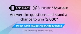 amazon subscribe&save quiz answers