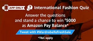 Amazon International Fashion Quiz Answers Today To Win Rs.5000