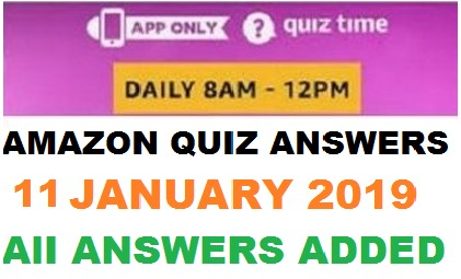 Amazon Quiz 11 January 2019