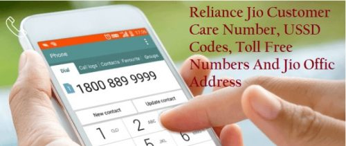 Jio Customer Care Number toll free