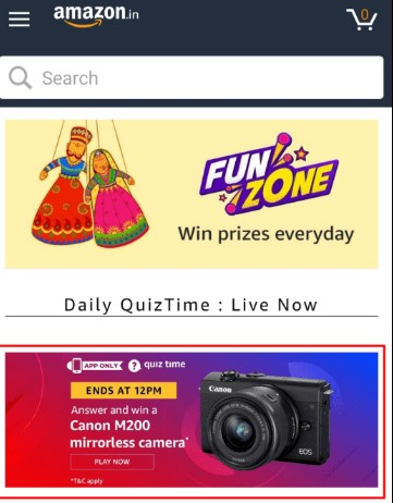 Amazon Coupon Carnival Quiz