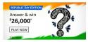 Amazon Republic Day Edition Quiz Answers Win ₹26,000