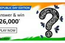 Amazon Republic Day Edition Quiz Answers Win ₹26,000