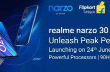 Realme Narzo 30 Next Sale | Launch Date 24th June 2021 | Flipkart Price