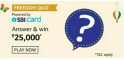 Amazon Freedom Quiz Answers Win – ₹25,000 Pay Balance