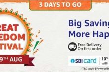 (5-9 Aug) Amazon Great Freedom Festival Sale 2021 – Upto 80% OFF With Coupons