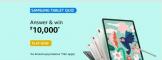 Amazon Samsung Tablet Quiz Answers Win ₹10,000 Pay Balance